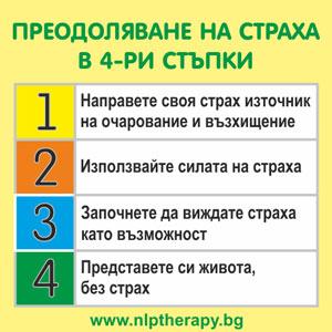 преодоляване на страха в 4 стъпки